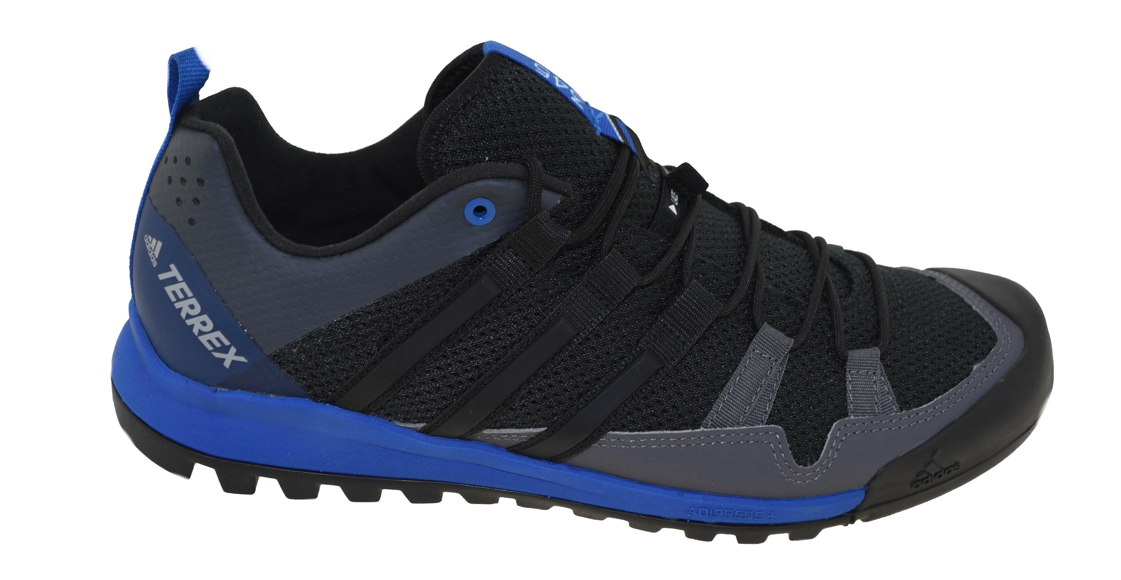 Adidas Men s Terrex Solo Hiking Shoe BLK BLK BLU Style CM7657  1564d2727