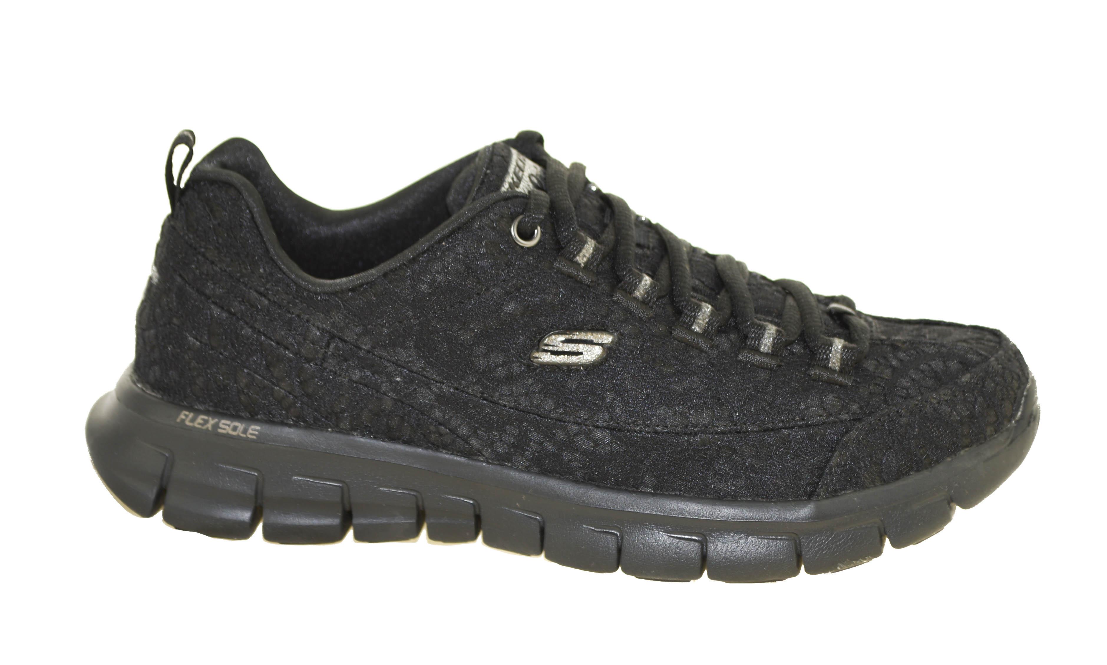 Skechers Women's Synergy Silky Sweet Sneaker, WhiteSilver