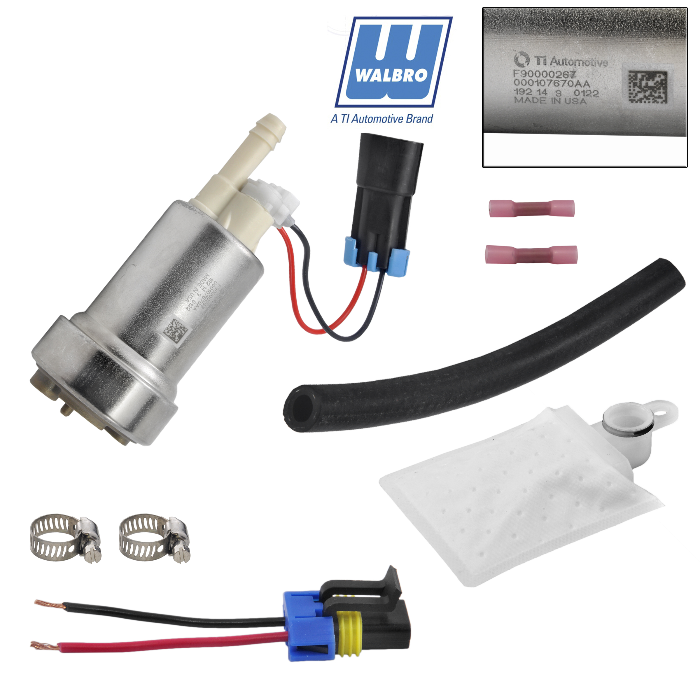 new walbro racing high flow f90000267 e85 flex fuel pump kit 450lph for 750 hp ebay. Black Bedroom Furniture Sets. Home Design Ideas