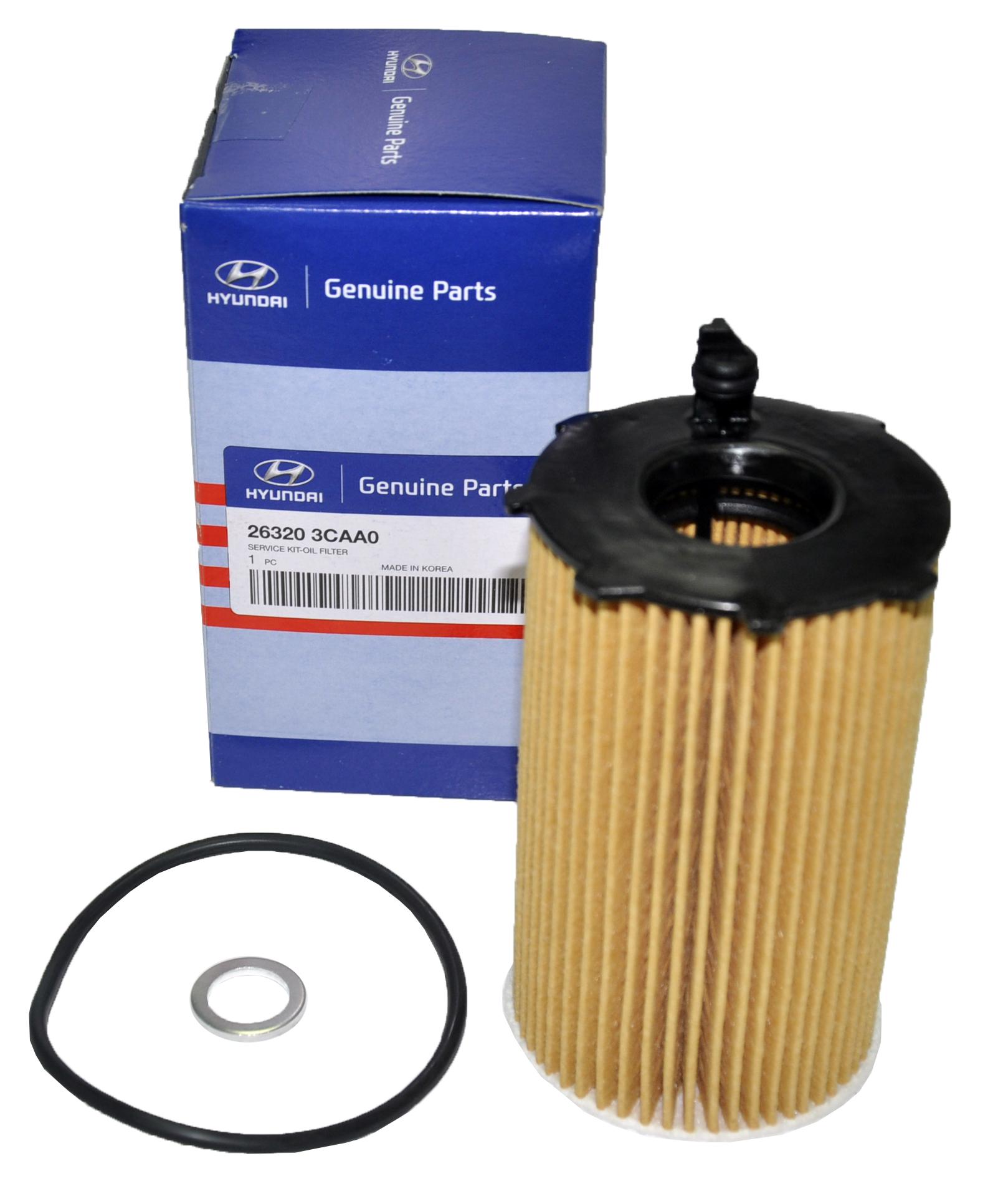 New Genuine Oem For Hyundai Kia Oil Filter 26320 3caa0 Ebay