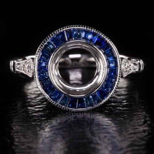 halo vintage setting engagement ring