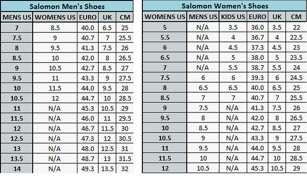 new balance shoes size chart