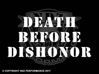 119 - Death Before Dishonor Stencil Text