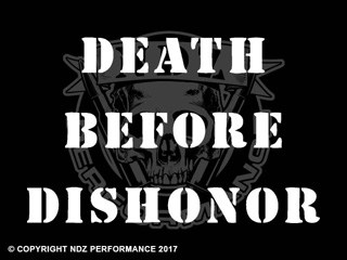 120 - Death Before Dishonor Stencil Text Spaced