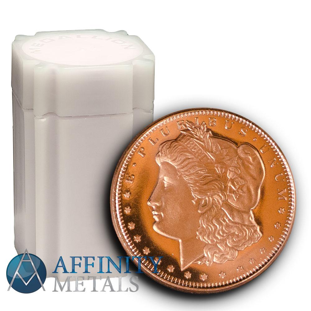 Lot of A Ten Morgan Dollar Copper Bullion Rounds Coins Set 10 1//4oz
