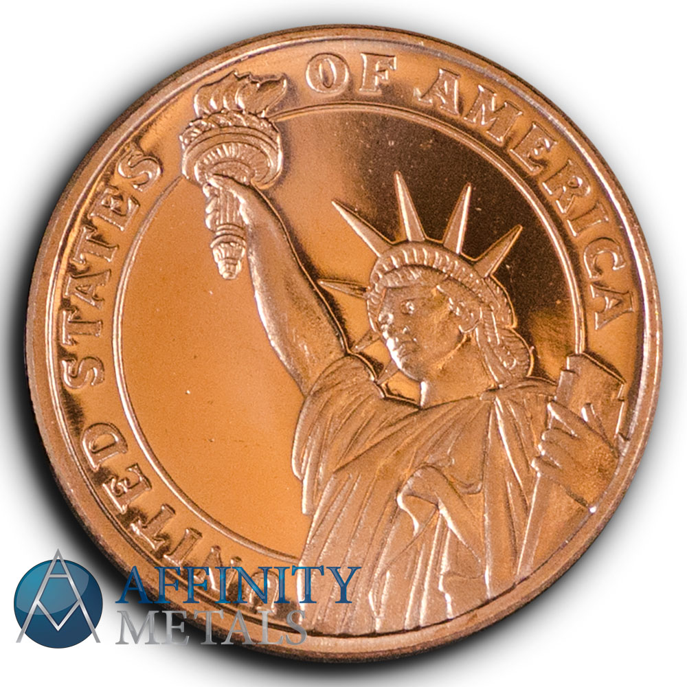 Statue of Liberty 1//4 .999 Copper Bullion Rounds 100 Coins