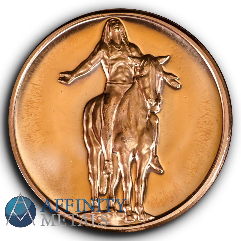 1 oz copper coin Native American Indian series # 1 copper bullion round