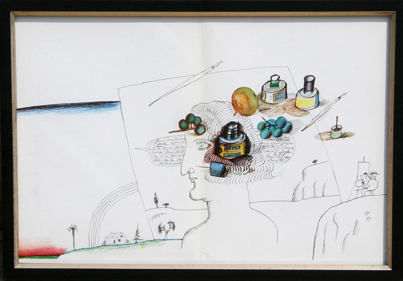 Saul Steinberg-Couple-1971 Lithograph