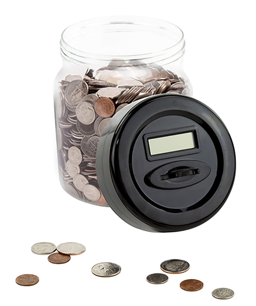 Digital money coin counter jar electronic piggy bank with lcd screen ebay - Coin bank that counts money ...