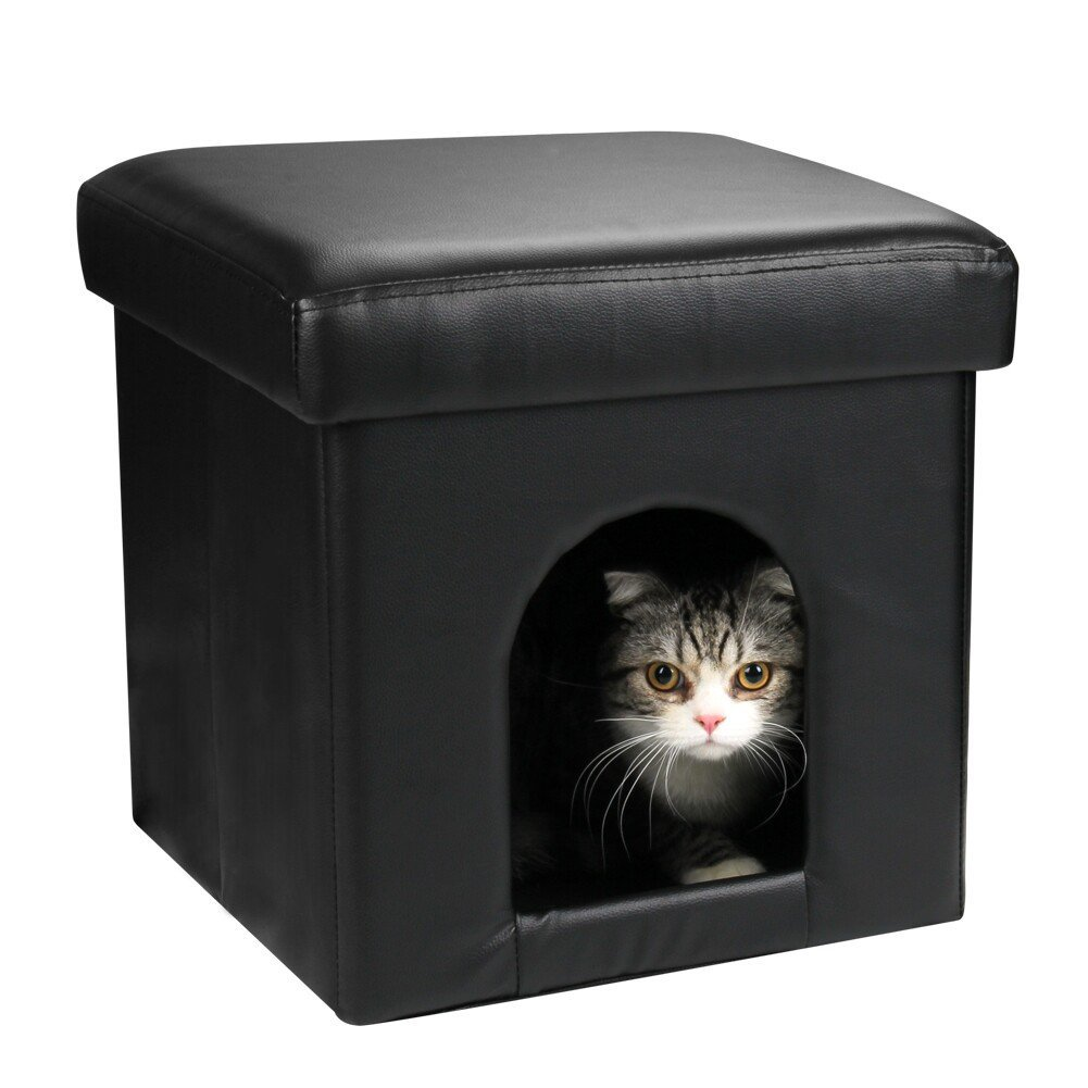collapsible pet ottoman house black ottoman dog bed or