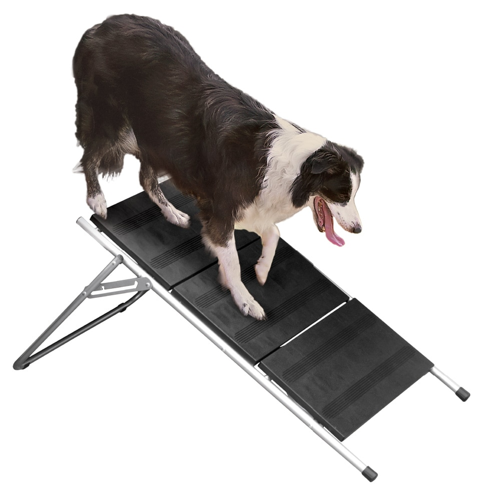"""Folding Stairs For Dogs >> Folding Metal Dog Stairs & Ramp – 17"""" High 3 Step Pet Stairs – Dog Steps 