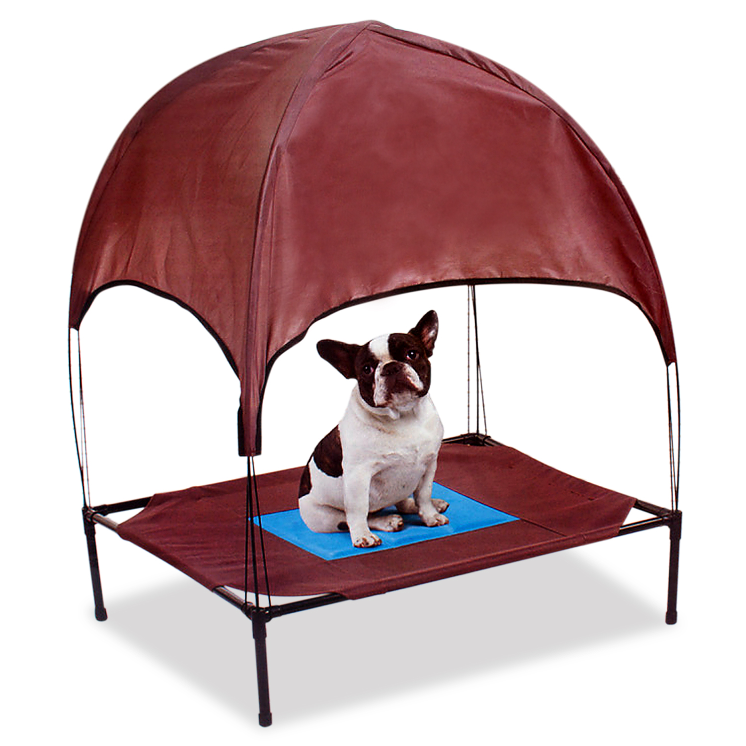 Cooling Pet Dog Cot with Removable Canopy