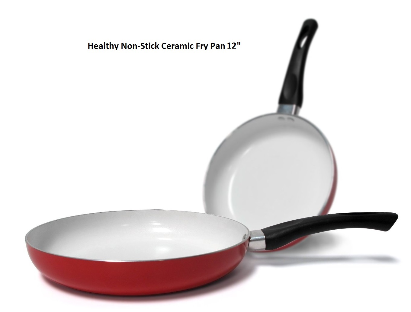 Healthy Nonstick 12 Inch Ceramic Coated Frying Pan Eco