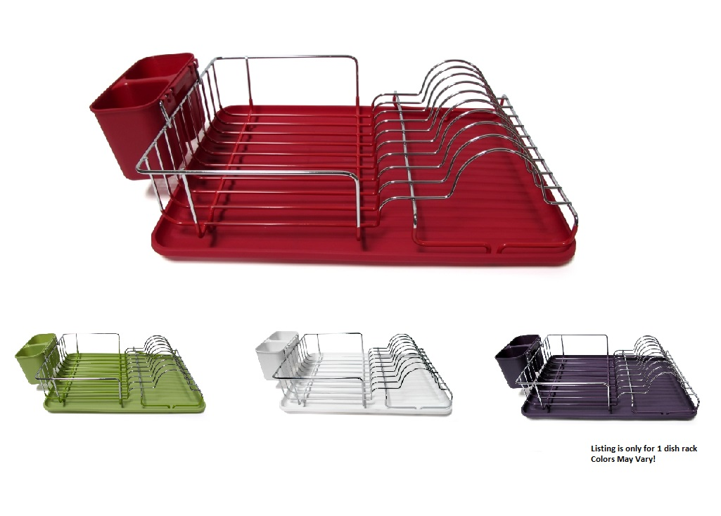 Stainless Steel Dish Rack Space Saver Dish Drainer Drying Rack Colors Vary