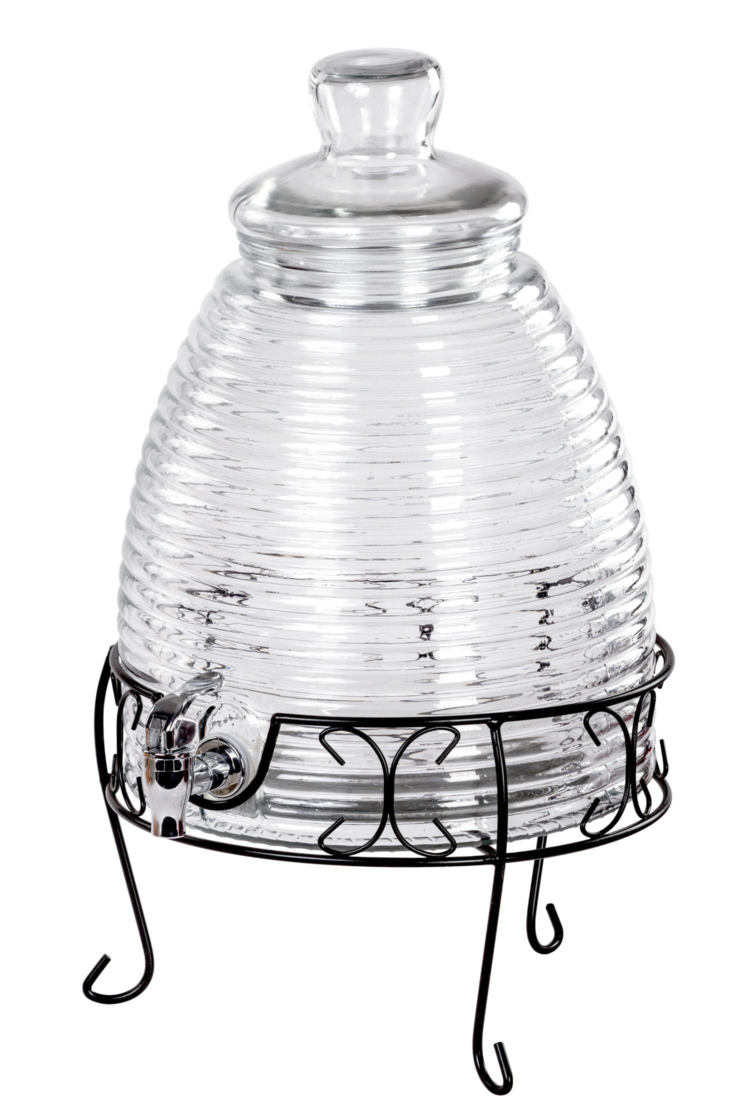 beehive glass beverage dispenser with stand 2 4 gallon drink dispenser ebay. Black Bedroom Furniture Sets. Home Design Ideas