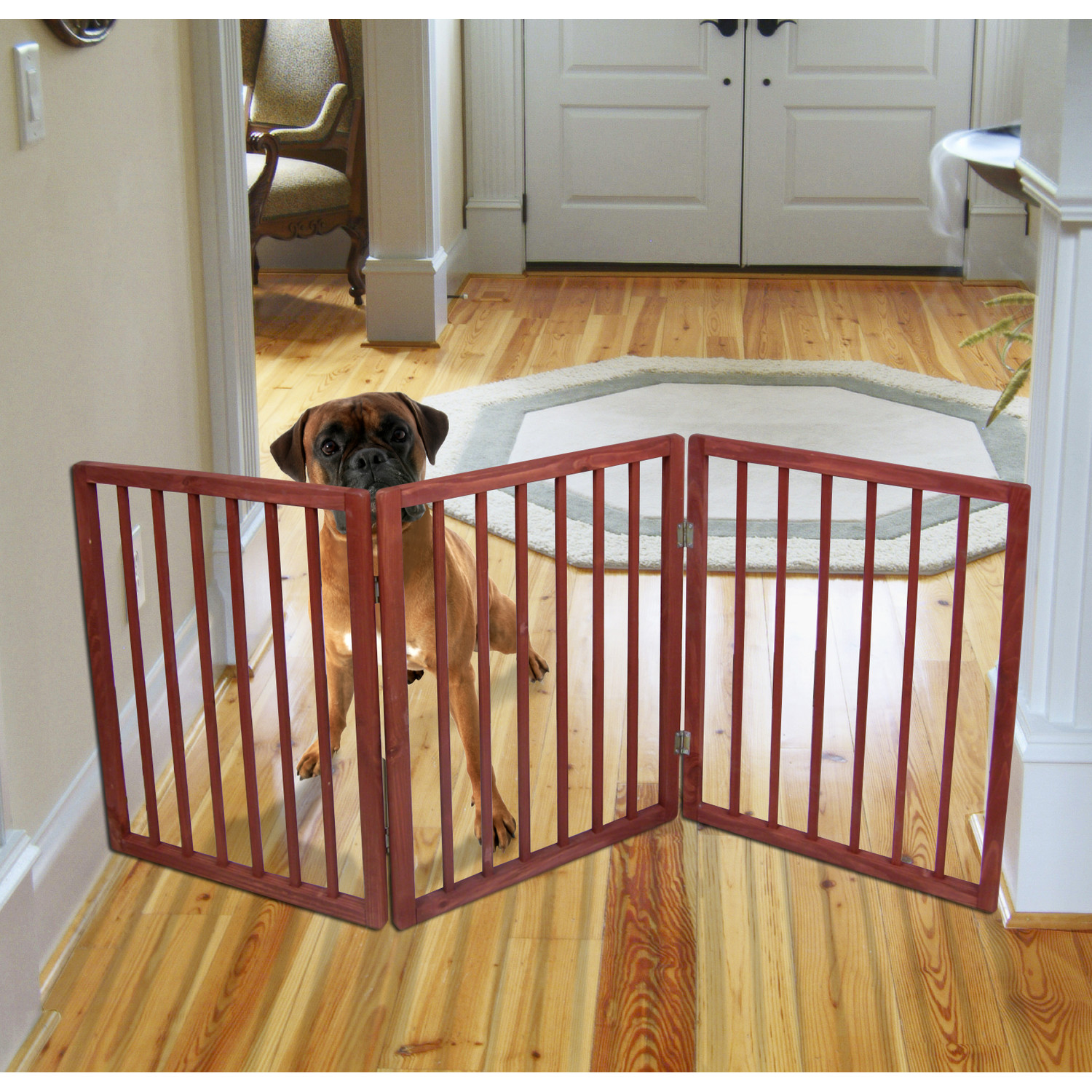 Extra Wide Pet Gate - Freestanding Dog Gate