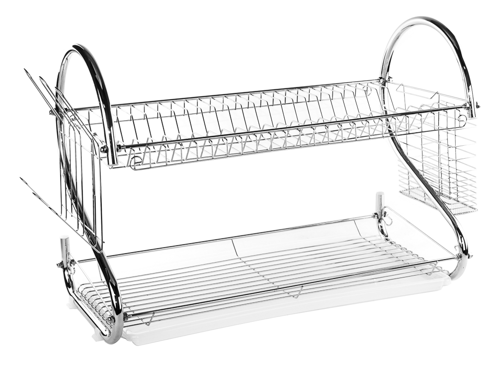 2 tier stainless steel dish rack space saver dish drainer drying rack 22 inch ebay - Dish rack for small space collection ...