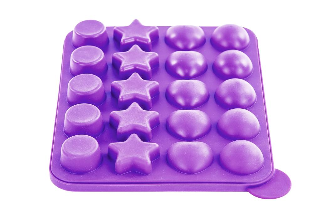 nonstick cake pop bakeware set silicone baking molds 2 pieces purple ebay. Black Bedroom Furniture Sets. Home Design Ideas