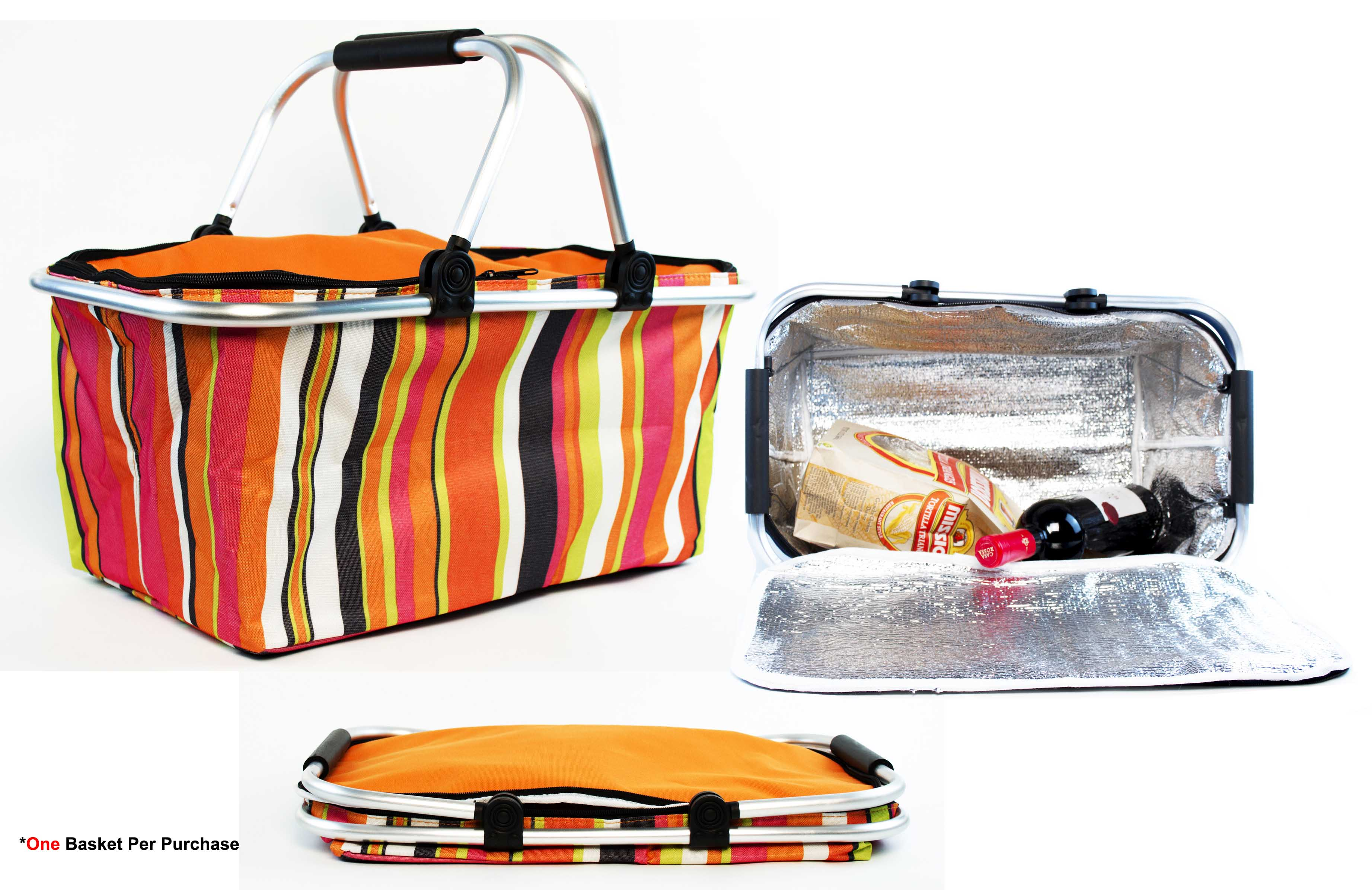 insulated picnic basket insulated folding picnic basket cooler with handles 12080