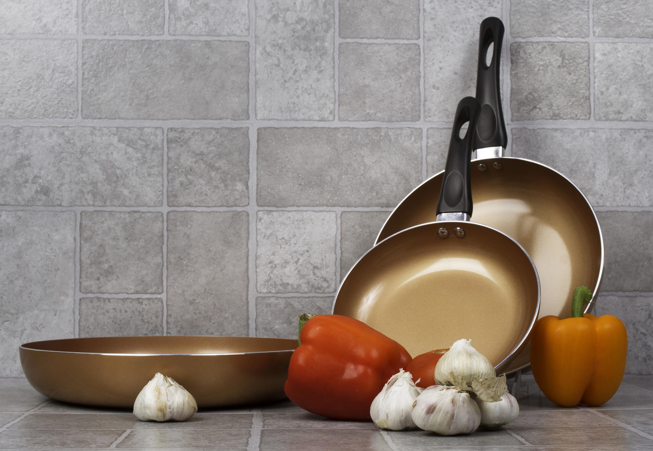 Healthy Ceramic Frying Pan Set Nonstick Ceramic Copper