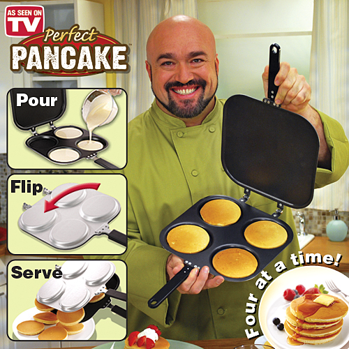 2-in-1 Four Picture Perfect Pancake Maker Pan and Omelet ...