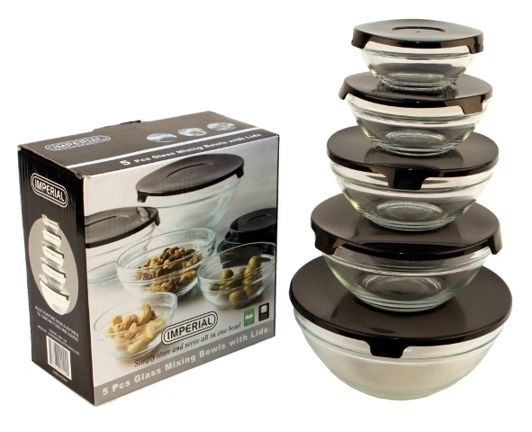 10 pcs glass lunch bowls healthy food storage containers set with black lids ebay. Black Bedroom Furniture Sets. Home Design Ideas
