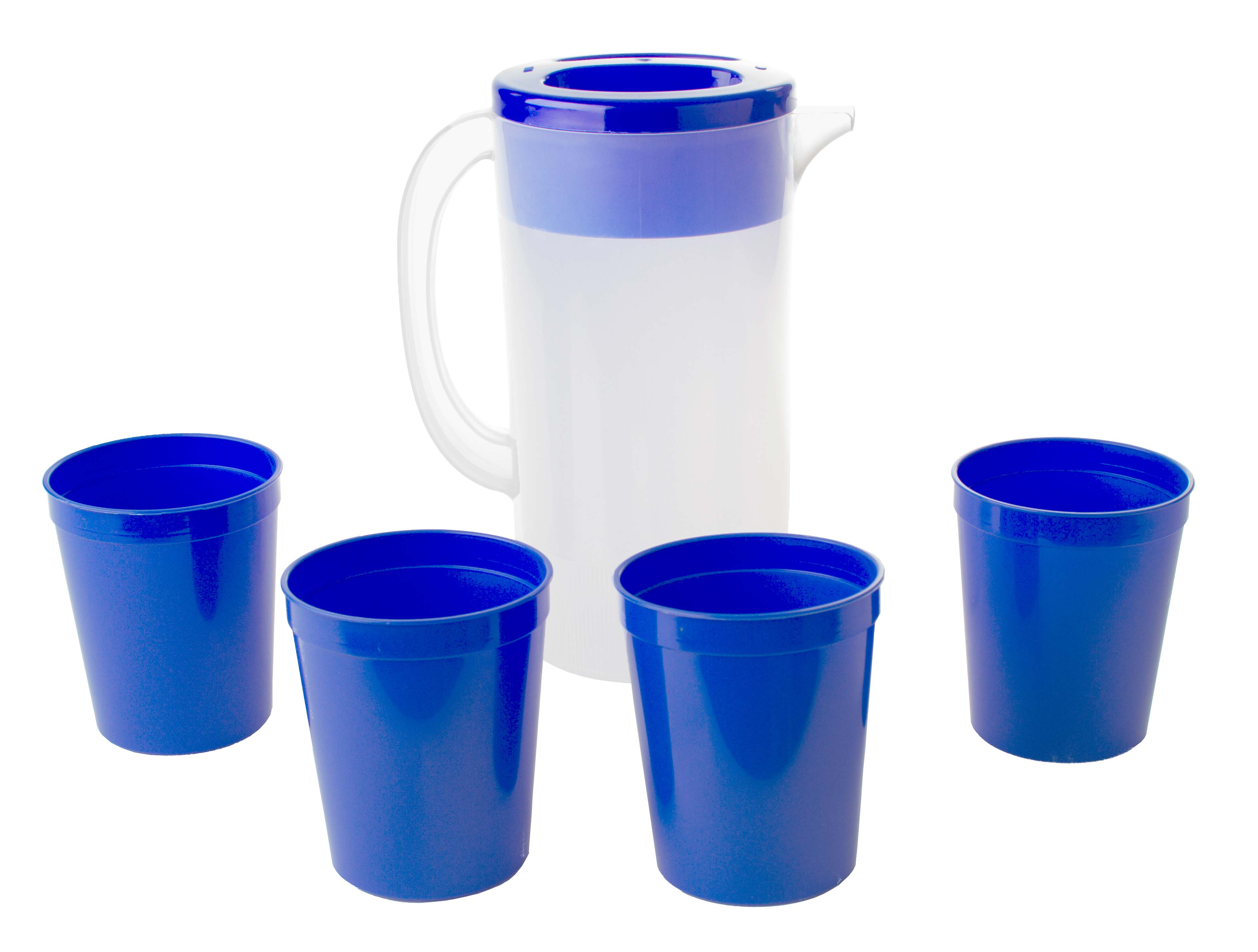 Reusable Plastic Pitcher or Water Pitcher Combo Set w ...