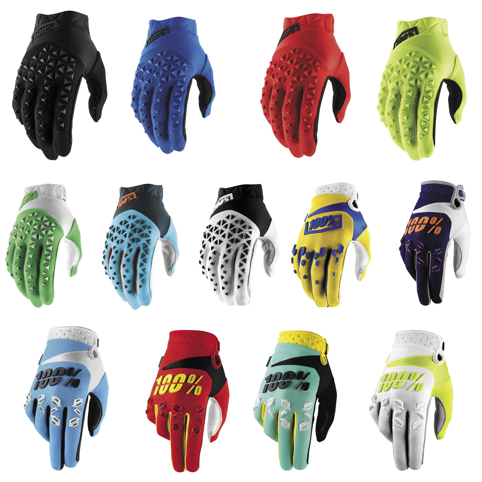 WHITE STEEL 2019 100/% ITRACK MOTOCROSS MX BIKE GLOVES GRAY