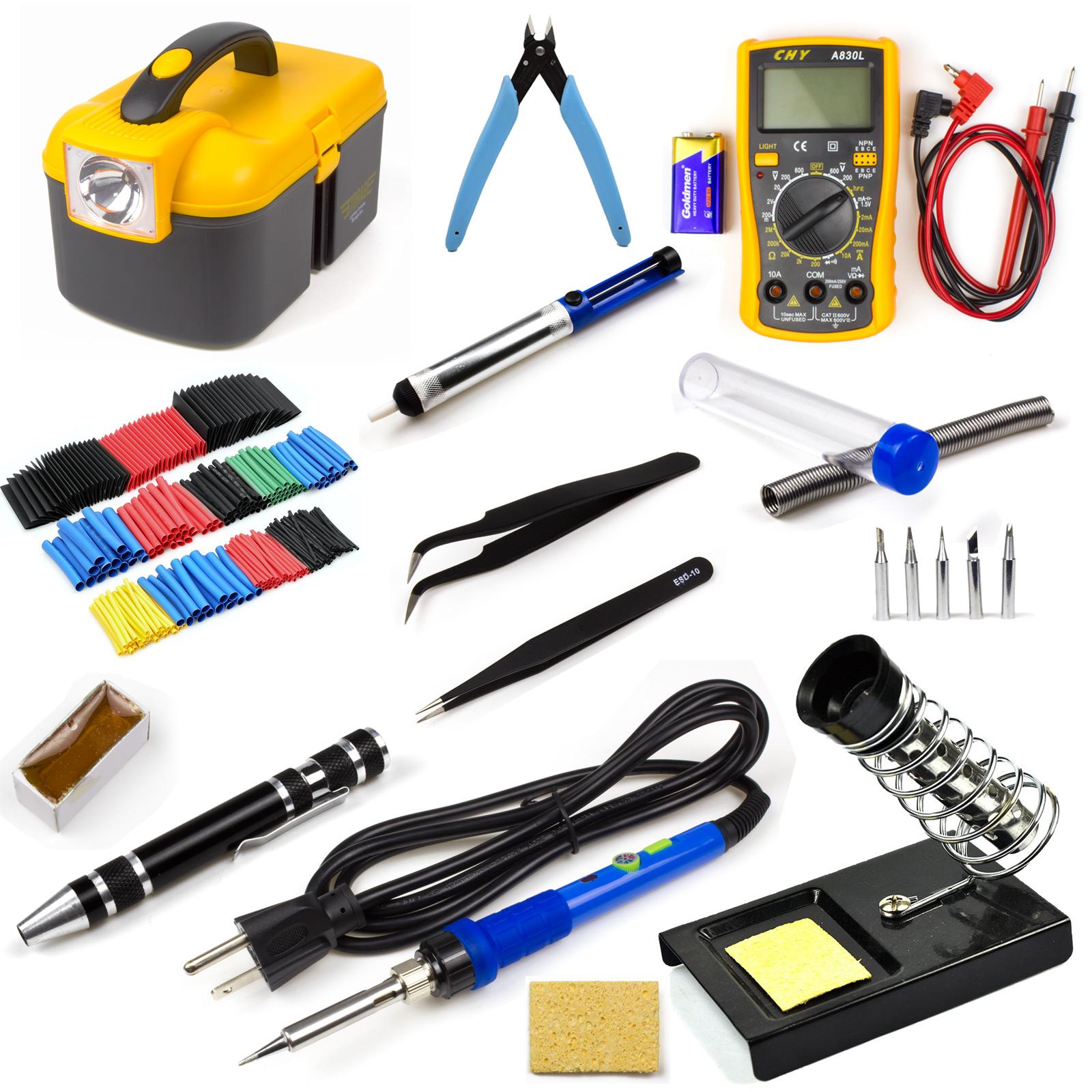 electric soldering iron tool kit 60w welding gun digital. Black Bedroom Furniture Sets. Home Design Ideas