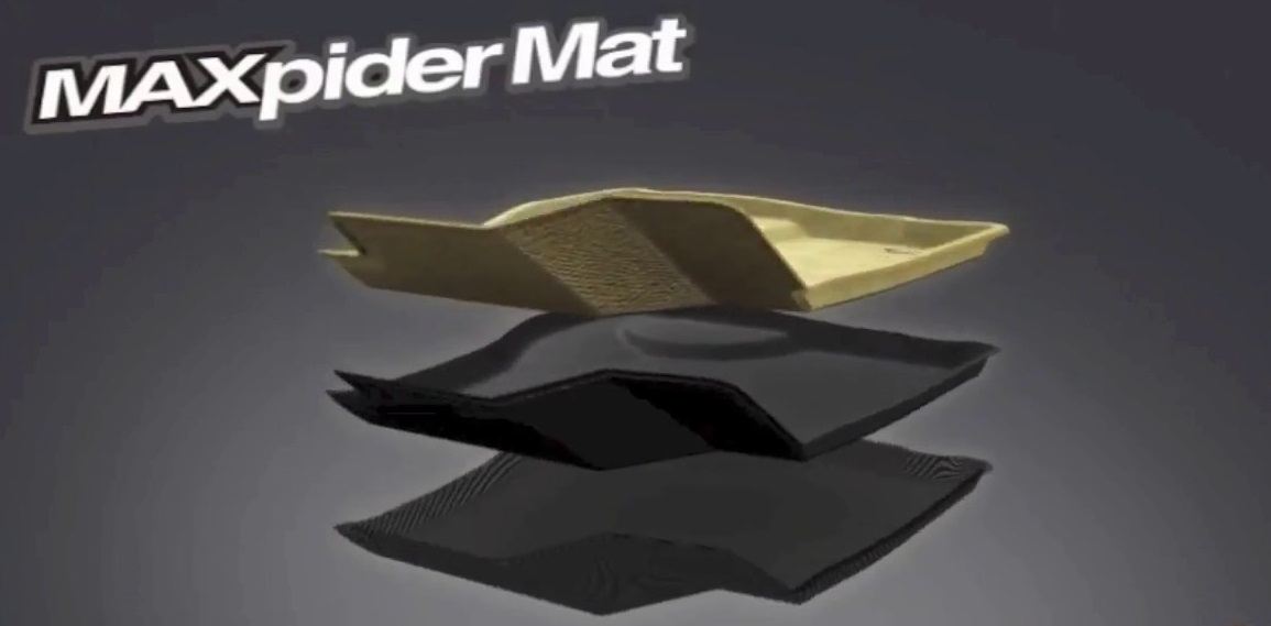 3D MAXpider Complete Set Custom Fit Floor Mat for Select Hyundai Santa Fe Models Classic Carpet L1HY04002209 Black