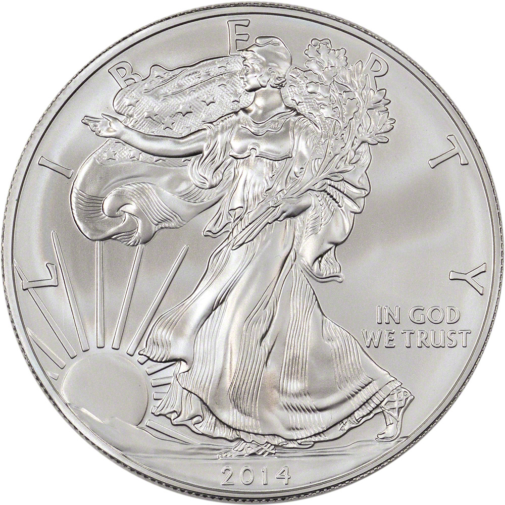 2014 American Silver Eagle 1 Oz 1 Sealed 500 Coin