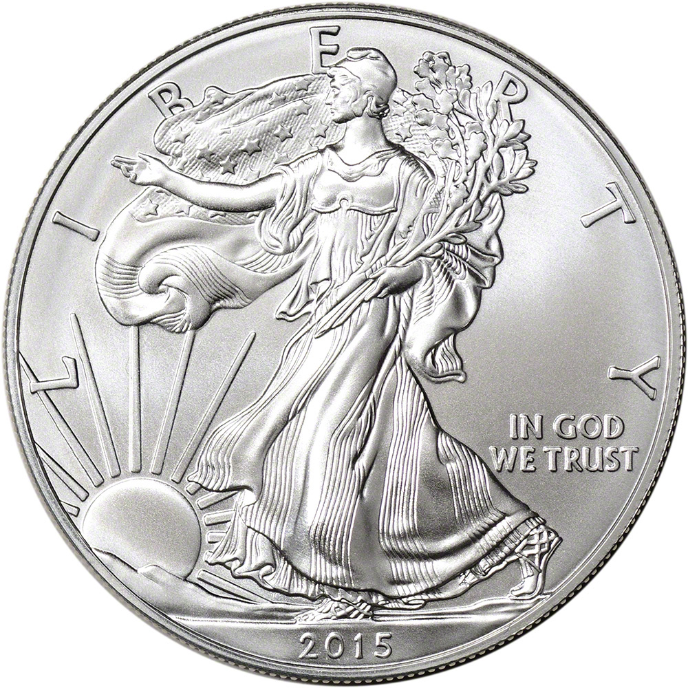 2015 American Silver Eagle 1 Oz 1 Bu Sealed 500