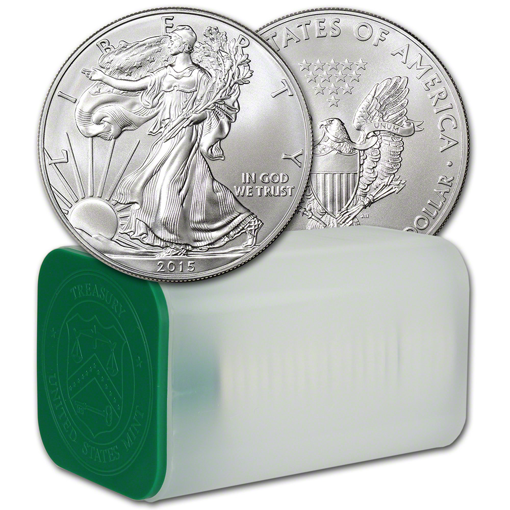 2015 American Silver Eagle 1 Oz 1 1 Roll Twenty 20