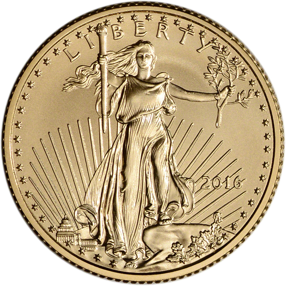 2016 American Gold Eagle 1 4 Oz 10 Bu Coin In U S