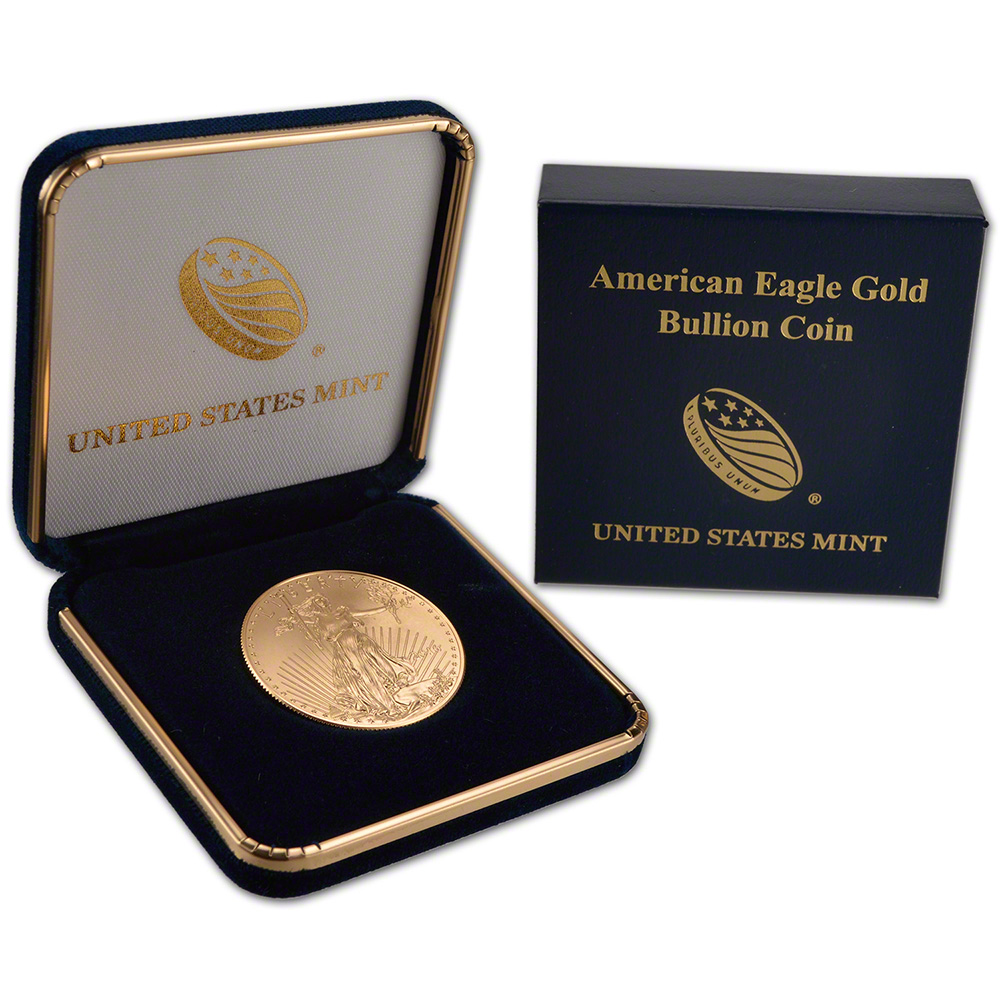 Baby Gift Gold Coin : American gold eagle oz bu coin in u s mint