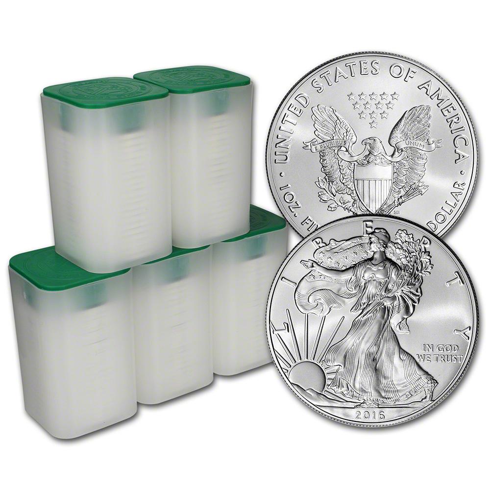 2016 American Silver Eagle 1 Oz 1 5 Rolls 100 Bu