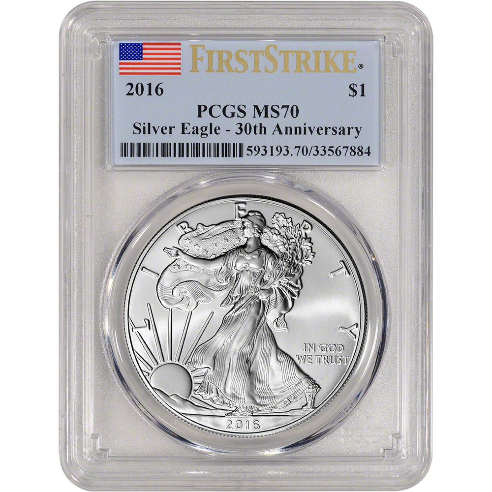 First Strike -Struck at West Point PCGS MS70 2012-W American Silver Eagle