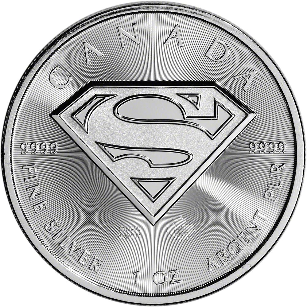 2016 Canada Silver Superman 1 Oz 5 Bu 1 Roll 25