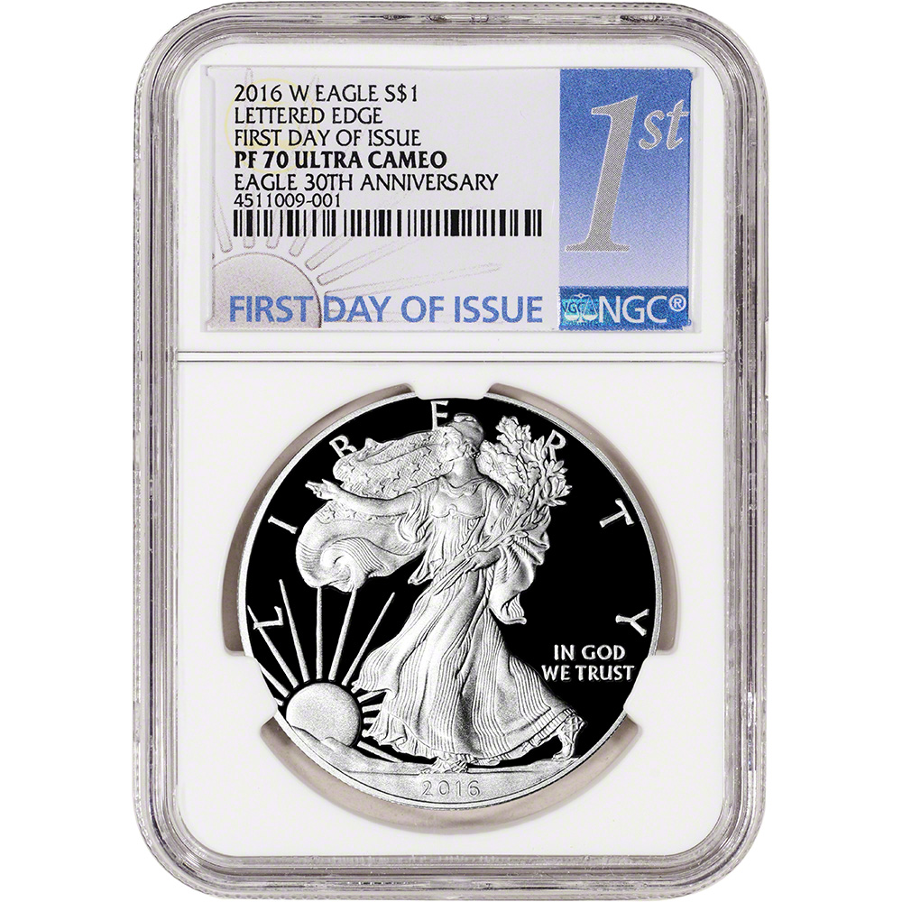 2016 W American Silver Eagle Proof Ngc Pf70 Ucam First