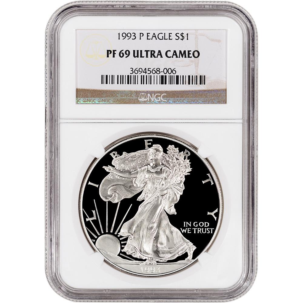 1993 P American Silver Eagle Proof Ngc Pf69 Ucam Ebay
