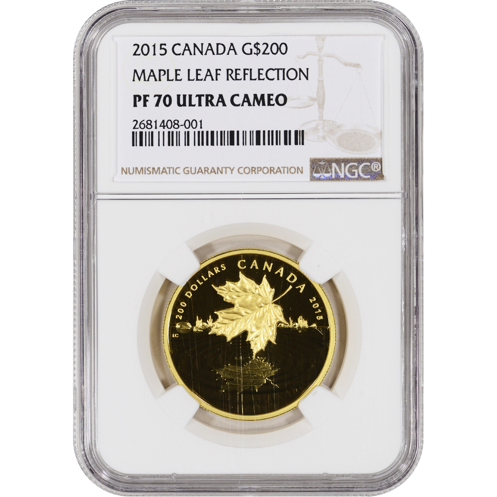2015 Canada Gold Maple Leaf Reflection Proof 1 Oz 200