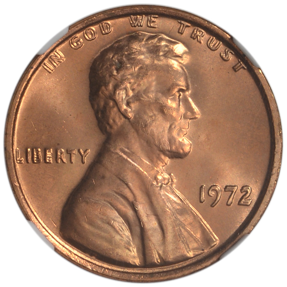 1972 US Lincoln Cent 1C - Doubled Die Obverse