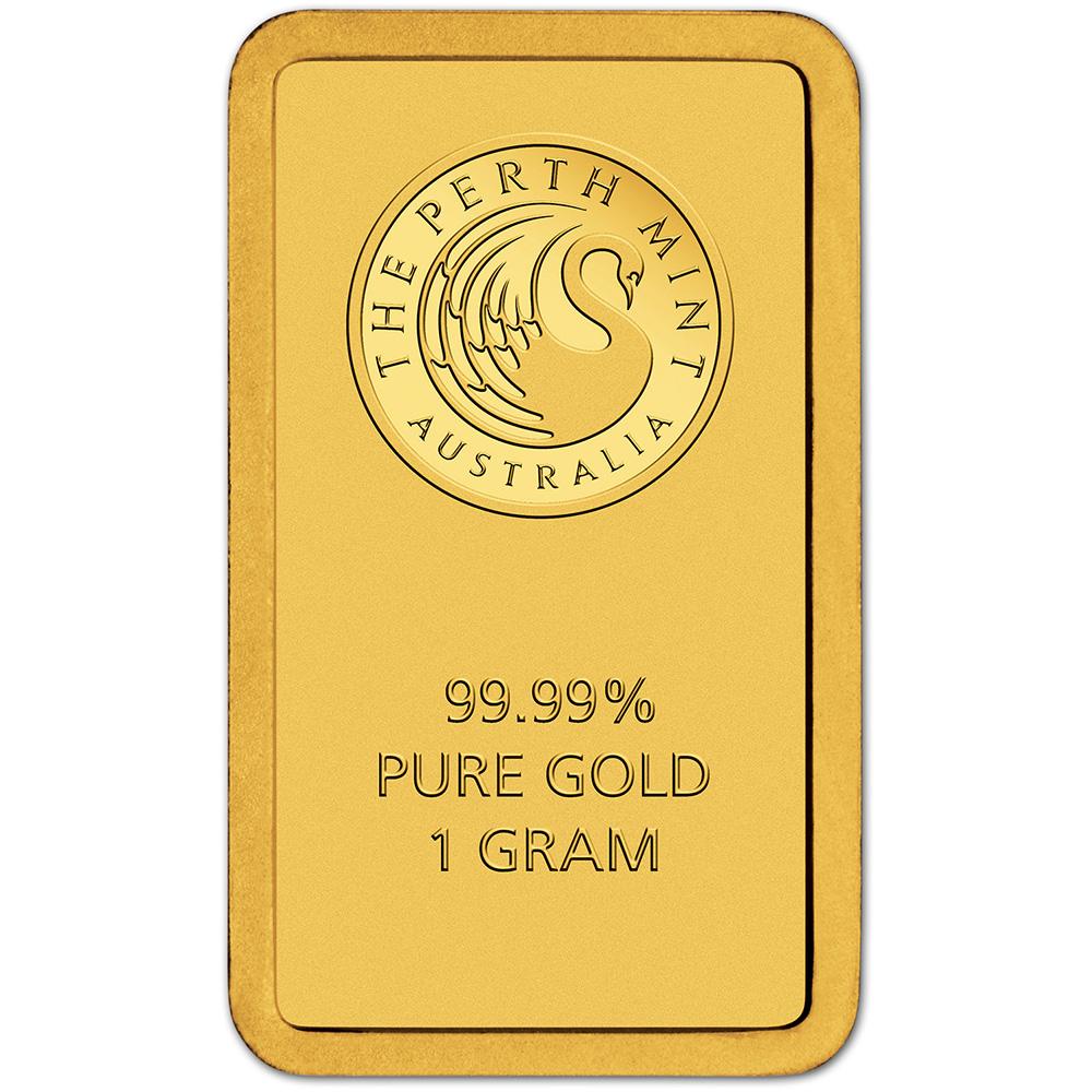 1 Gram Gold Bar Perth Mint 99 99 Fine In Assay Ebay