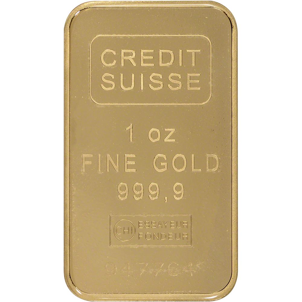 1 Oz Gold Bar Credit Suisse 99 99 Fine In Assay Ebay