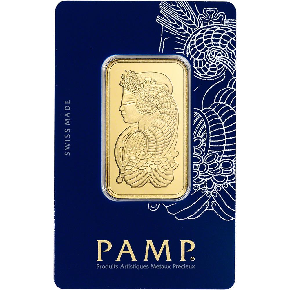 1 Oz Gold Bar Pamp Suisse Fortuna 999 9 Fine In