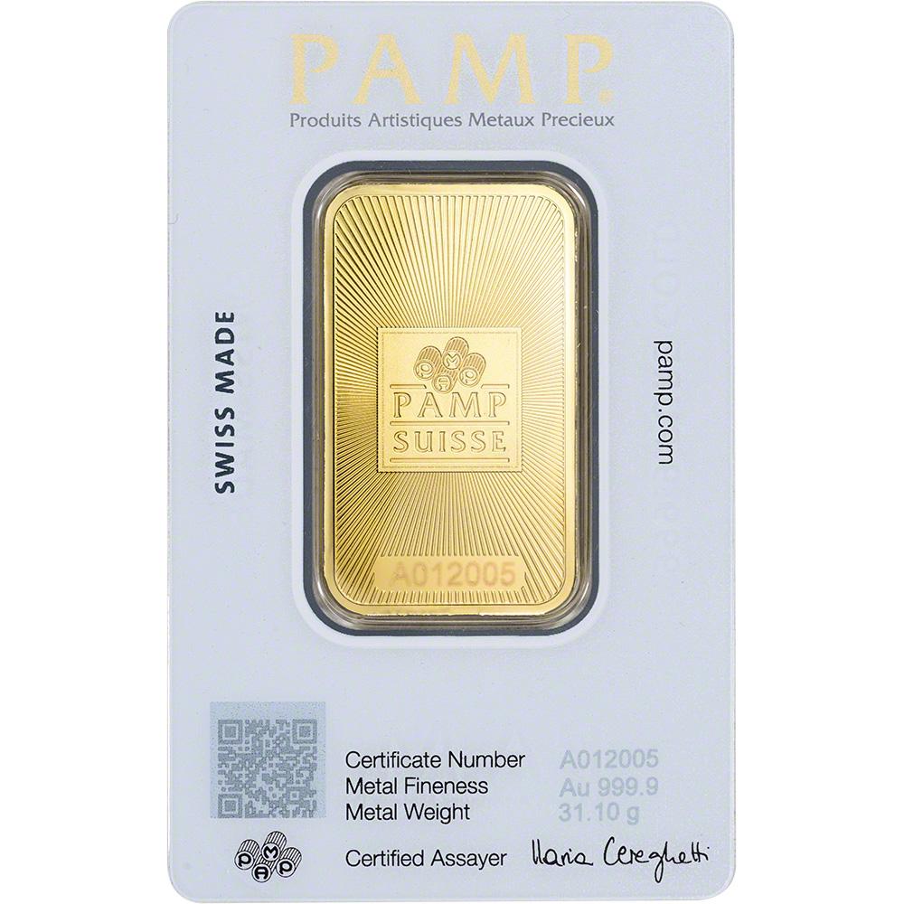 1 Oz Gold Bar Pamp Suisse Suisse Design 999 9 Fine