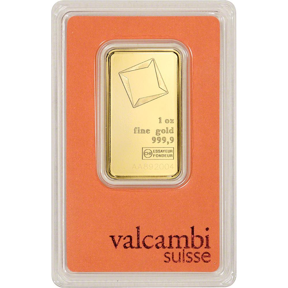 1 Oz Gold Bar Valcambi Suisse 999 9 Fine In Assay Ebay