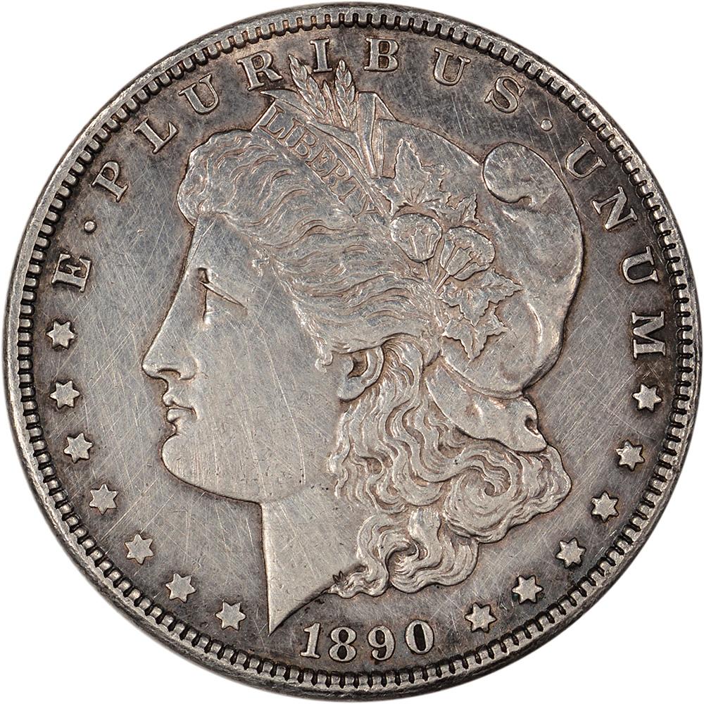 1890 Cc Us Morgan Silver Dollar 1 Au Details Ebay
