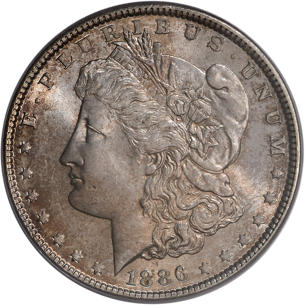1886 Us Morgan Silver Dollar 1 Pcgs Ms65 Ebay