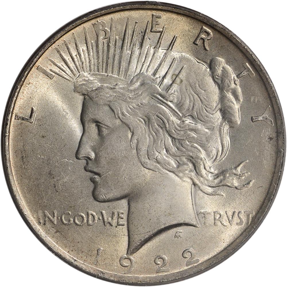 1922 Us Peace Silver Dollar 1 Pcgs Ms63 Ebay